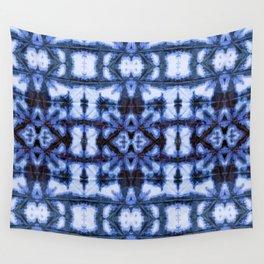 Blue Oxford Shibori Wall Tapestry