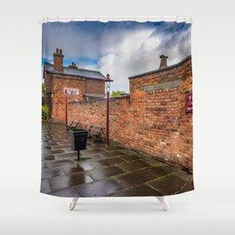 Hadlow Victorian Railway Station Shower Curtain