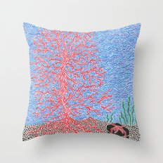 Back Story of Back Island Throw Pillow