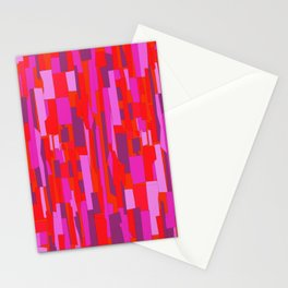 Hot Red Modern Mosaic Pattern Stationery Cards