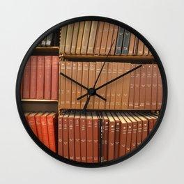 Bookshelves Wall Clock