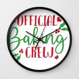 Xmas Official Baking Crew Christmas Baking Wall Clock
