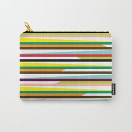 Geometric Pattern #72 (colorful stripes) Carry-All Pouch