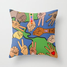 Save the Planet Earth Day Throw Pillow