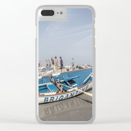 Brigantine Lifeboat Clear iPhone Case