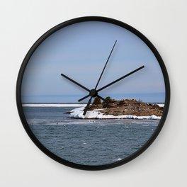 Ice on Lake Superior Wall Clock