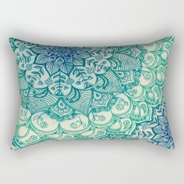 Emerald Doodle Rectangular Pillow