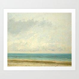 Gustave Courbet, Calm Sea, 1866 Art Print