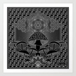 Mushroom Mandala I Art Print