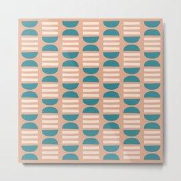 Mid Century Modern Geometric Pattern 913 Metal Print