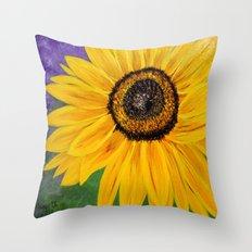 Color of the sun Throw Pillow