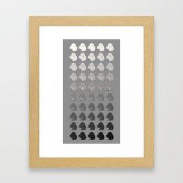 50 Shades of Sciurus carolinensis Framed Art Print