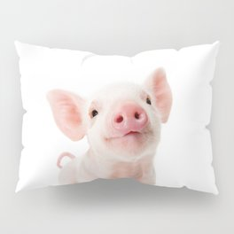 Baby Piglet Portrait Pillow Sham