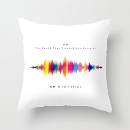 Om - The Sound that created the Universe Throw Pillow