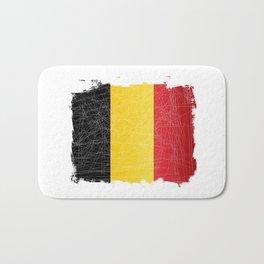 Belgian  Grunge Flag Bath Mat