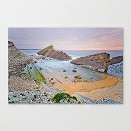 And the coast broke Canvas Print