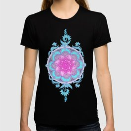 Pink, Purple and Turquoise Super Boho Doodle Medallions T-shirt