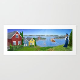 Oslo Fjord Panorama Art Print