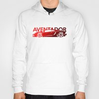 lamborghini Hoodies featuring Lamborghini Aventador - classic red - by Vehicle