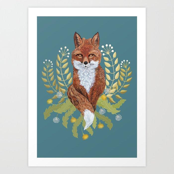 Fox Brown Art Print