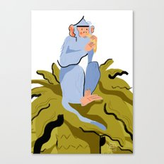 LIKE A MONKEY ON A TREE Canvas Print