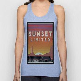 Vintage poster - Sunset Limited Unisex Tank Top