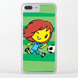 Emo Footballer Clear iPhone Case