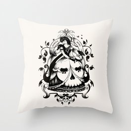 Mrs. Death II Throw Pillow