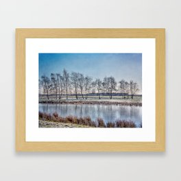 Winter in Holand Framed Art Print