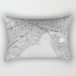 Vintage Map of Jacksonville Florida (1950) BW Rectangular Pillow