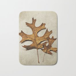 two oak leaves Bath Mat