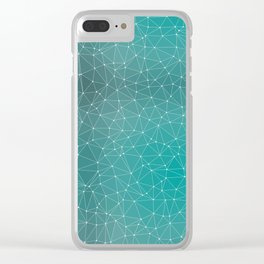 Triangulated Marrs Green Dotted Pattern Clear iPhone Case