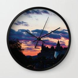 Ottawa Sunset Wall Clock