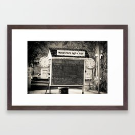 chalk board crier Framed Art Print