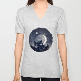 A Night With Venus and Jupiter Unisex V-Neck