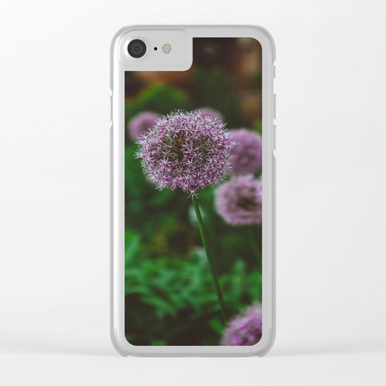 New York Alliums II Clear iPhone Case