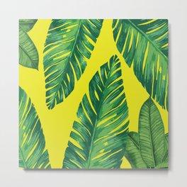 Tropical Hawaii Leaves Metal Print