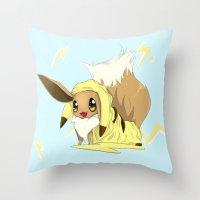 eevee Throw Pillows featuring Eevee-licious! by EeekGirl