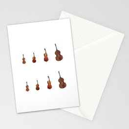 String Section City Orchestra Conductor Gift Stationery Cards