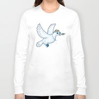 hippie Long Sleeve T-shirts featuring Hippie Dove by laurxy