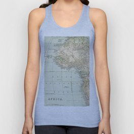 West  & North Africa Vintage Map Unisex Tank Top