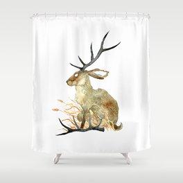 Shed Antler Shower Curtain