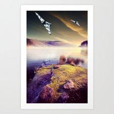 Vulcan Thunder in the Valley Art Print