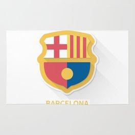 Barcelona FC Flat Logo Rug