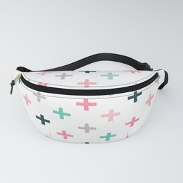 SWISS CROSSES - BLUSH PINK and MINT Fanny Pack