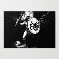 conan Canvas Prints featuring Conan by shugmonkey