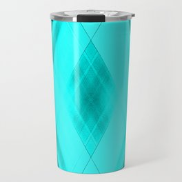 Hot triangular strokes of intersecting sharp lines with heavenly triangles and stripes. Travel Mug