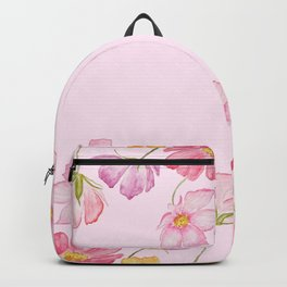 colorful cosmos flwoer in pink background Backpack