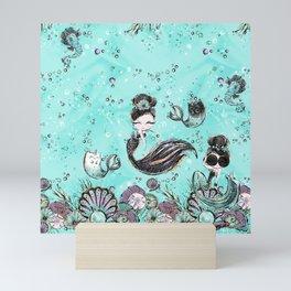 Audrey Mermaid Pattern 10 Mini Art Print