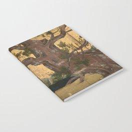 Japanese Azuchi-Momoyama-Period Eight-Panel Gold Leaf Screen - Cypress Tre Notebook